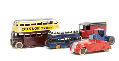 A collection of pre-war Vehicles all repainted including - No