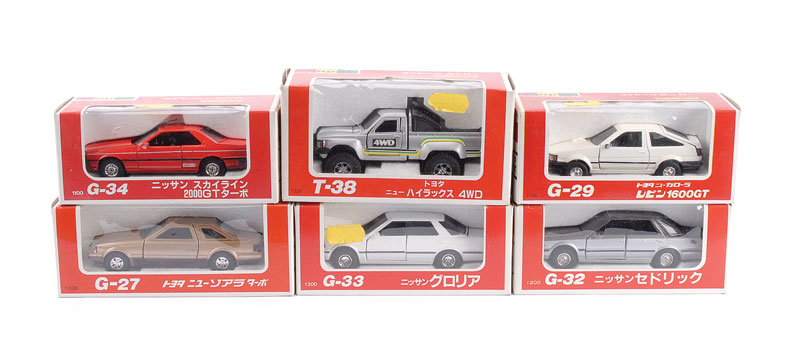 Diapet Car Group Of 6 T38 Toyota Hilux Silver G27 Toyota Soarer