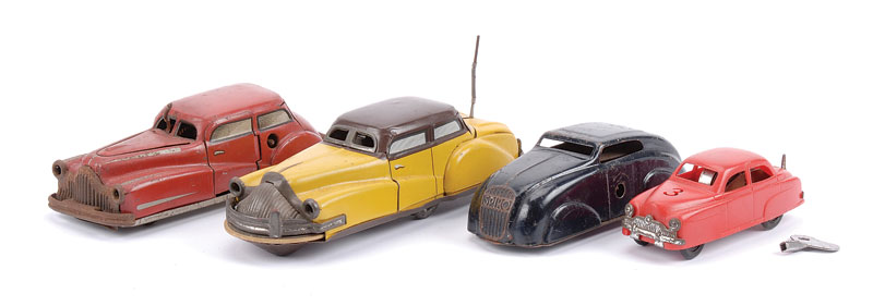 Jouef (France) group of 3 Cars including - (1) tinplate Brevete No