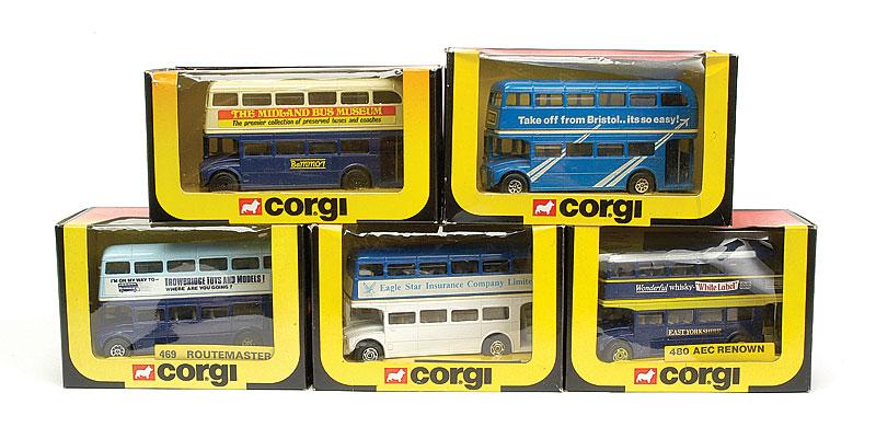 Corgi group of Routemaster Buses - comprising, 5 x No