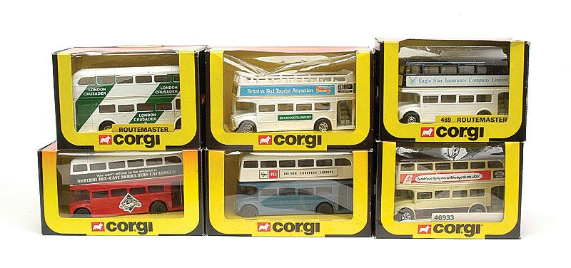 Corgi group of Routemaster Buses - comprising, 3 x No