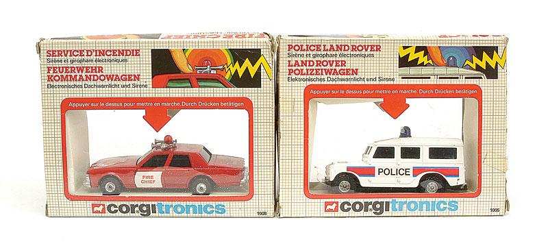 Corgitronics Pair of Emergency Vehicles - No