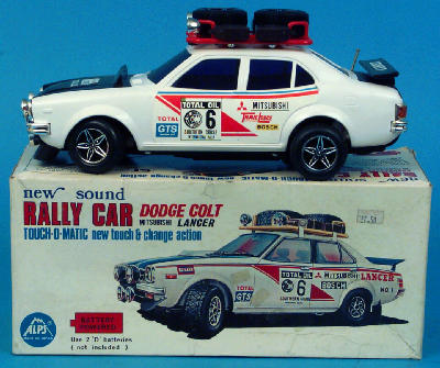 Alps Japan Datsun 280z Rally Type Battery Operated Red Black