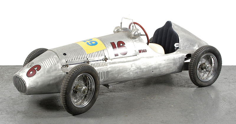 Hand made model of a mercedes w165 model of1939 racing car for Mercedes benz pedal car