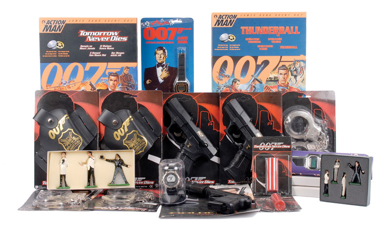 James Bond a mixed group which includes Hasbro Action Man figures, various Quartz Watches and others plus Wicke (Lonestar) 1990s Guns and accessories - interesting lot see part photo