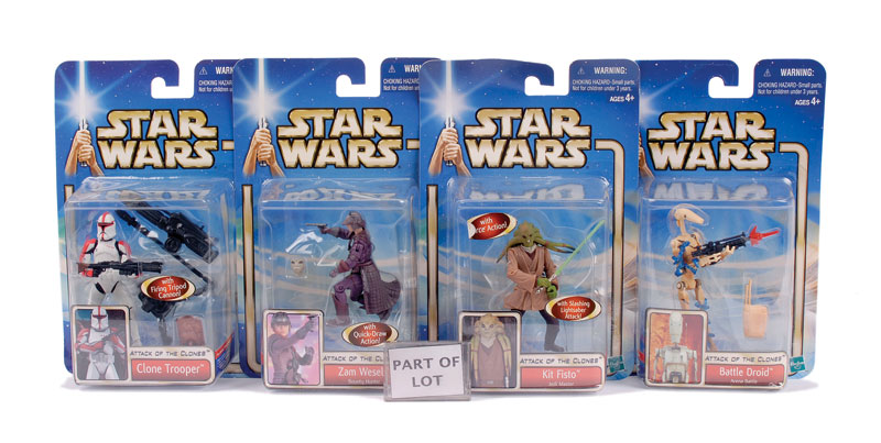 Hasbro Star Wars Saga Attack Of The Clones 3 34 Carded Figures