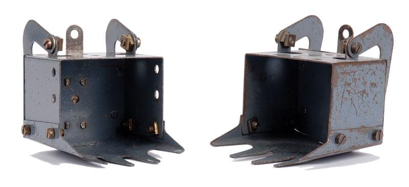 Meccano pair of blue/grey Digger Buckets