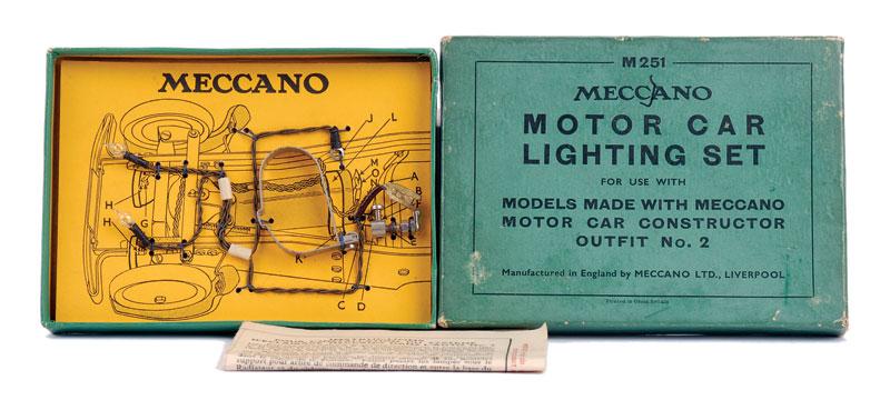 Meccano Motor Car Lighting Set with instruction leaflet