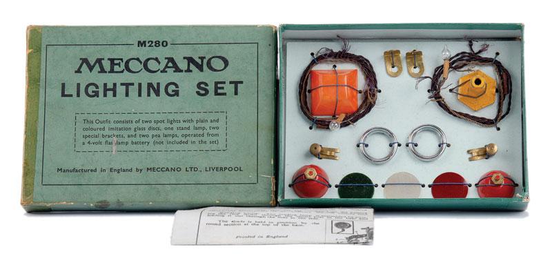 Meccano Lighting Set with instruction leaflet date coded 2/39