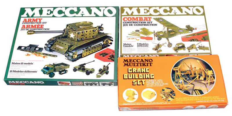 Meccano late issue sets consisting of an Army Construction Set, Near Mint to Mint complete with outer mailer