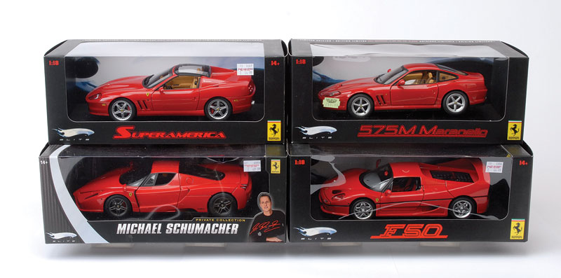 Hot Wheels 1/18th Scale Ferrari Car Group   Ferrari 575 M Maranello, The  Michael Schumacher Private Collection ...