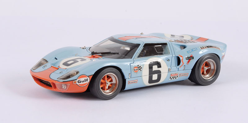 Smts Cl Ford Gt Light Blue Orange Racing Number Th Scale Mint In Near