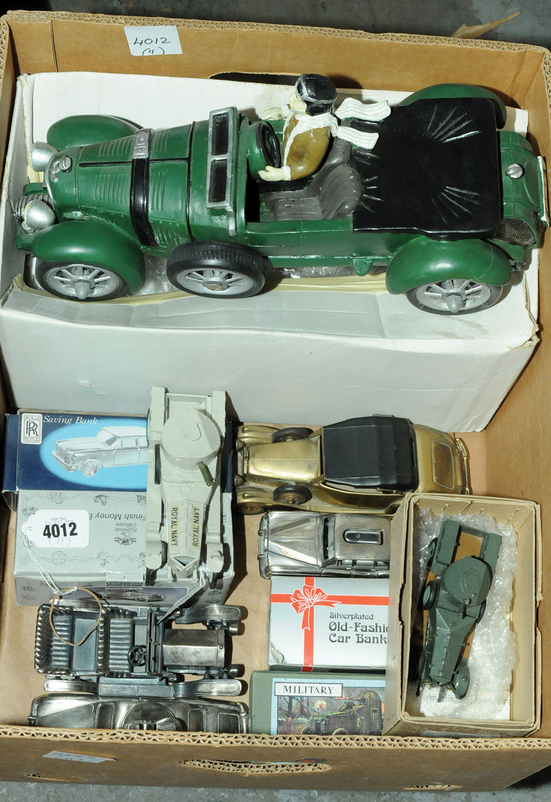 Mayes Models, Brigadiere Models, Highlands, Fal and similar a mixed and varied Rolls Royce group plus large-scale resin type Bentley Blower with driver figure