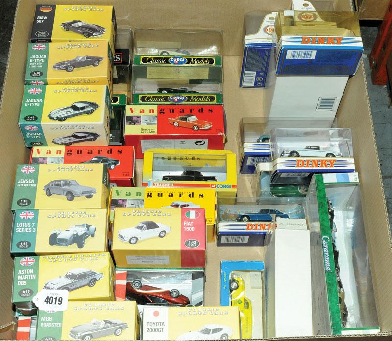 Corgi Classics, Matchbox The Dinky Collection, Atlas Editions, Vanguards, Cararama and similar a mixed boxed car group