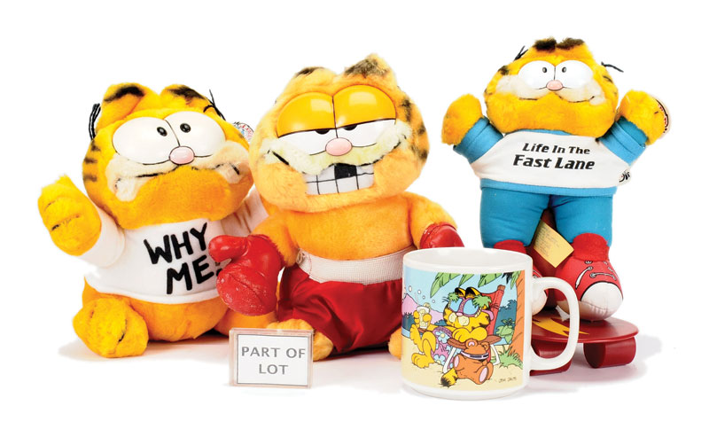 Garfield Collection Of Toys And Ephemera Including Zeon Digital