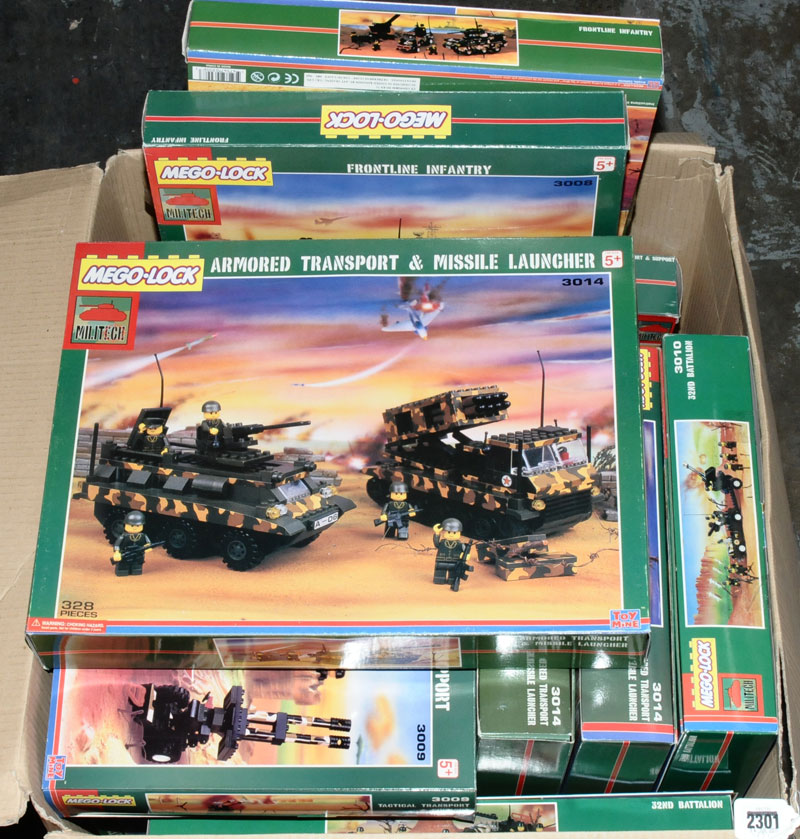 mego lock lego style military construction sets each with a