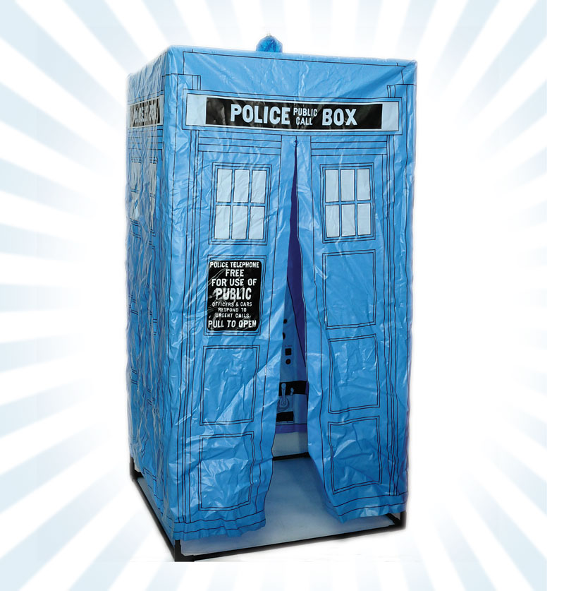 Dekker Toys Doctor Who rare inflatable Tardis Tent 1980s Woolworths exclusive complete with set of plastic poles comprising PVC tent printed console ... & Dekker Toys Doctor Who rare inflatable Tardis Tent 1980s ...