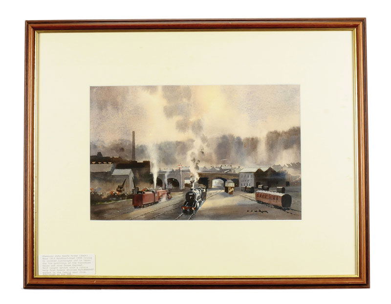Railway Water Colour by Ebenezer John Woods Prior 1914 to 1988 ...