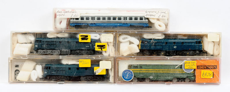 Lima Bertren Piko N Gauge Diesel Locomotives Consisting Of 3 X BR Blue Class 55