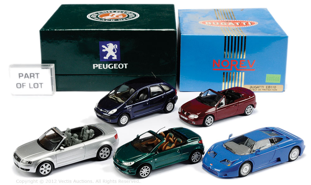 Norev boxed Car group - Peugeot 206 \