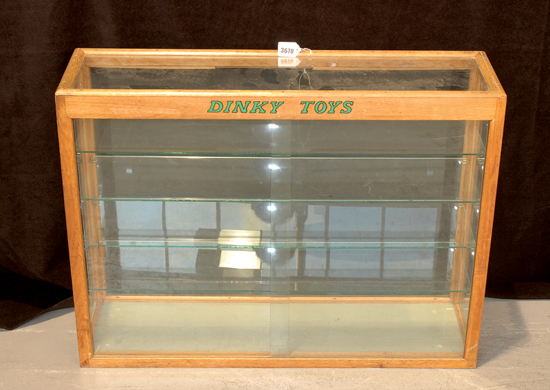 Dinky Toys Wooden Display Cabinet Wooden Framed Unit With Glass