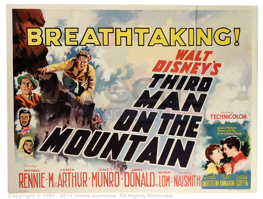 Image result for third man on the mountain 1959