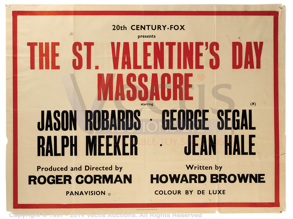 The St Valentine S Day Massacre 1967 Film Poster