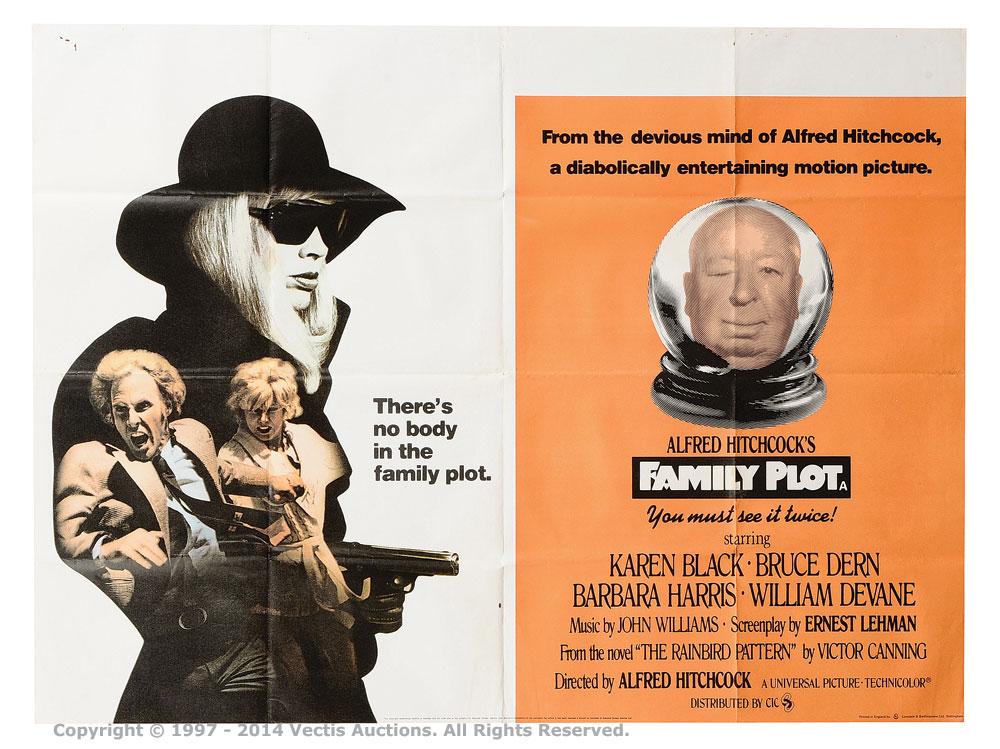 """Family Plot (1976). British Quad (40"""" x 30"""") Film Poster"""
