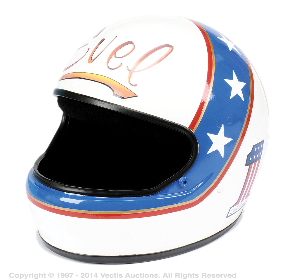 Evel knievel style hand painted full face helmet