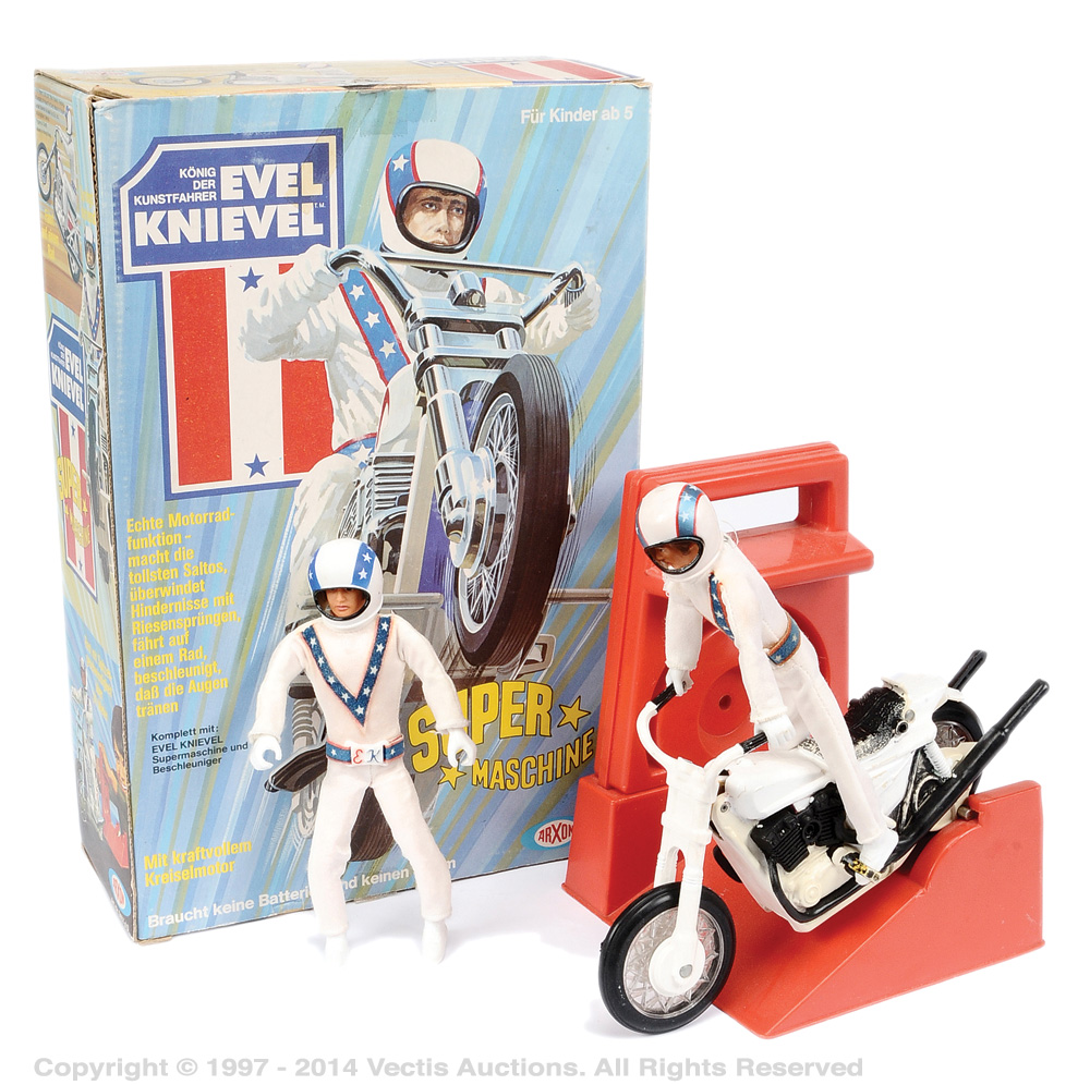 Arxon evel knievel german issue gyro powered stunt cycle