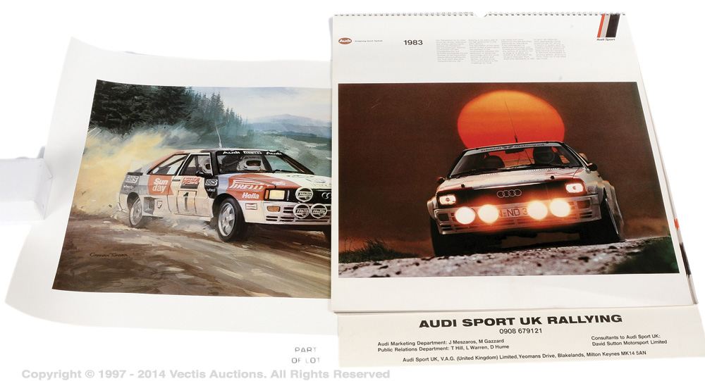 Audi Quattro Rally Cars a mixed group of items