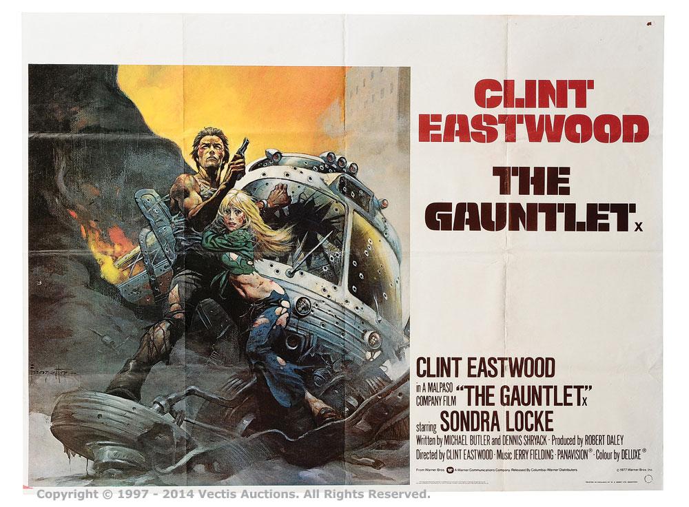 """The Gauntlet (1977). British Quad (40"""" x 30"""") Film Poster"""