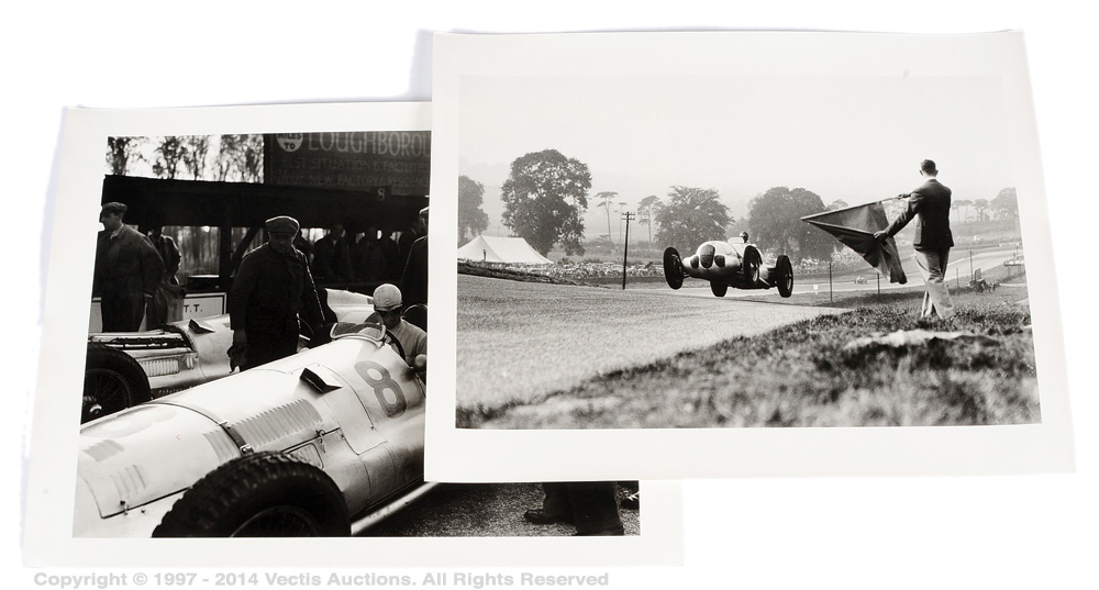 A pair of vintage black and white prints taken from the original