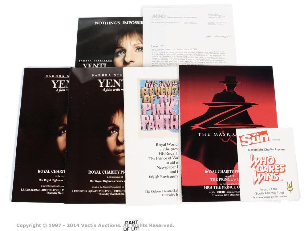 Film Premiere Application & Brochure Lot (1970s-1980s)
