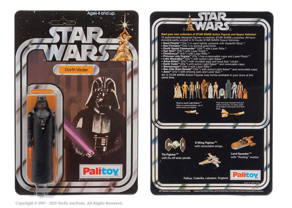"Palitoy Star Wars Darth Vader 3 3/4"" vintage figure, Mint"