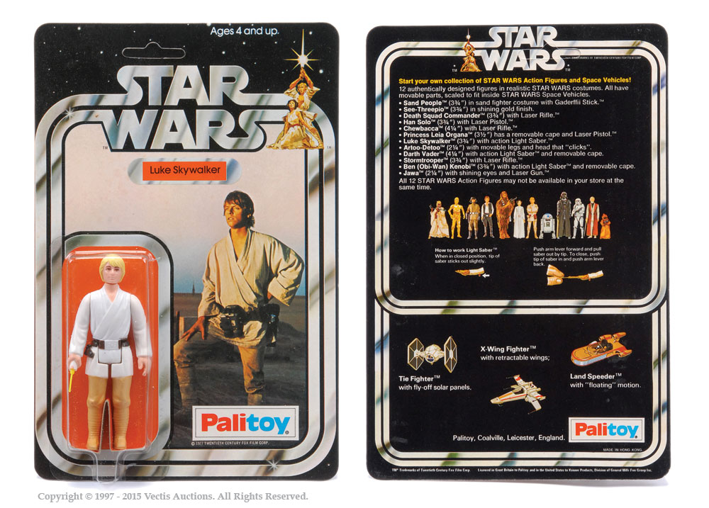"Palitoy Star Wars Luke Skywalker 3 3/4"" vintage figure"