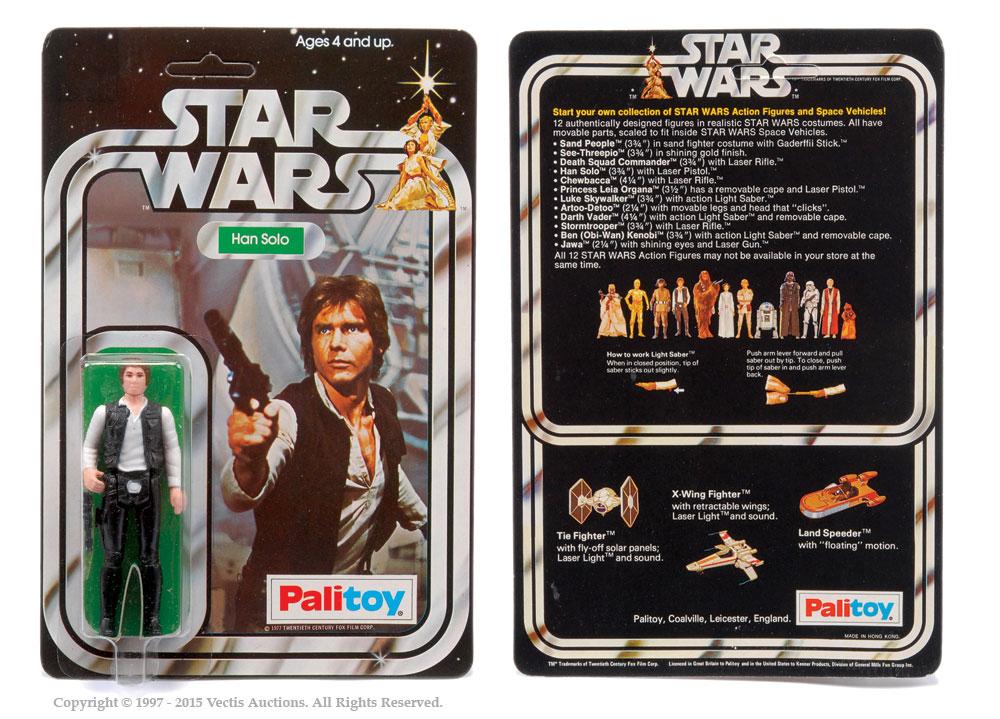"Palitoy Star Wars Han Solo 3 3/4"" vintage figure, Mint"