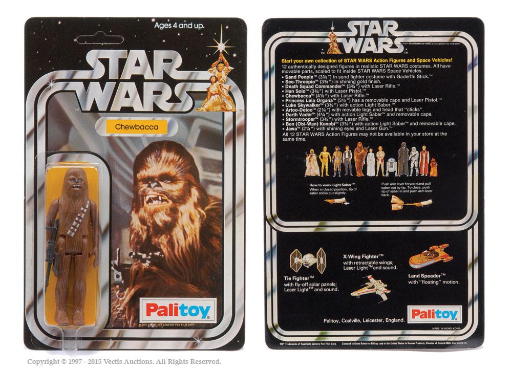 "Palitoy Star Wars Chewbacca 3 3/4"" vintage figure, Mint"