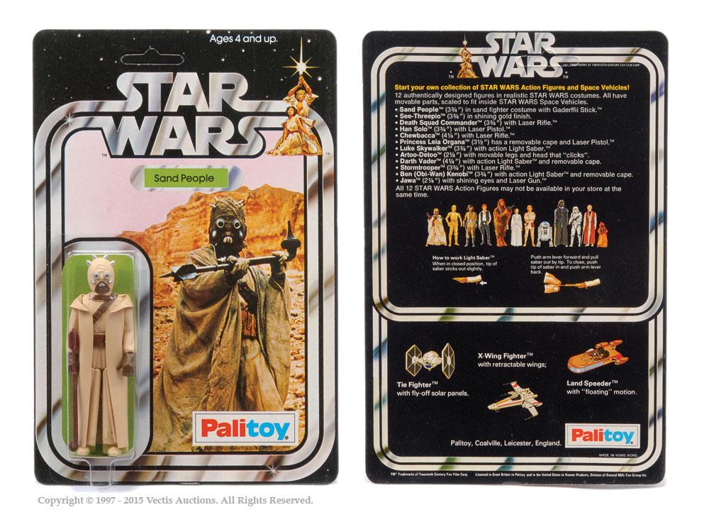 """Palitoy Star Wars Sand People 3 3/4"""" vintage figure, Mint"""