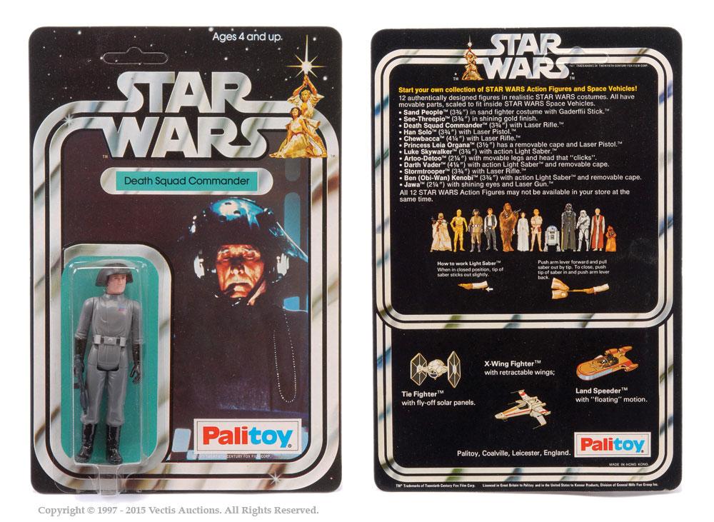 "Palitoy Star Wars Death Squad Commander 3 3/4"" vintage figure,"
