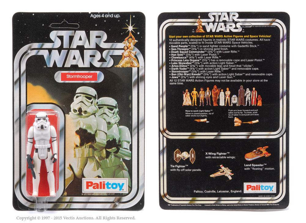 "Palitoy Star Wars Stormtrooper 3 3/4"" vintage figure, Mint"