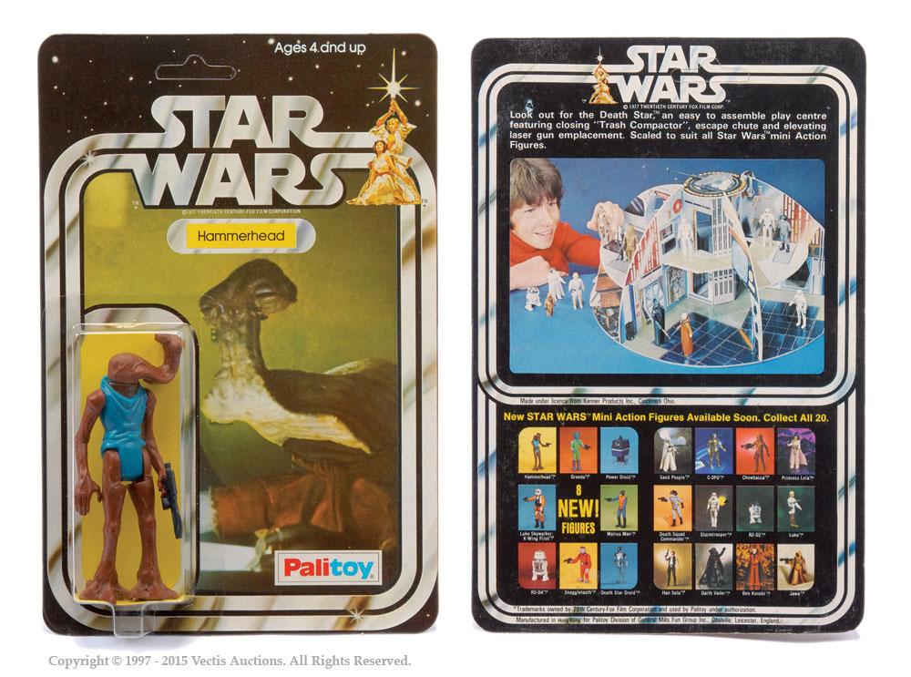 """Palitoy Star Wars Hammerhead 3 3/4"""" vintage figure, Mint"""