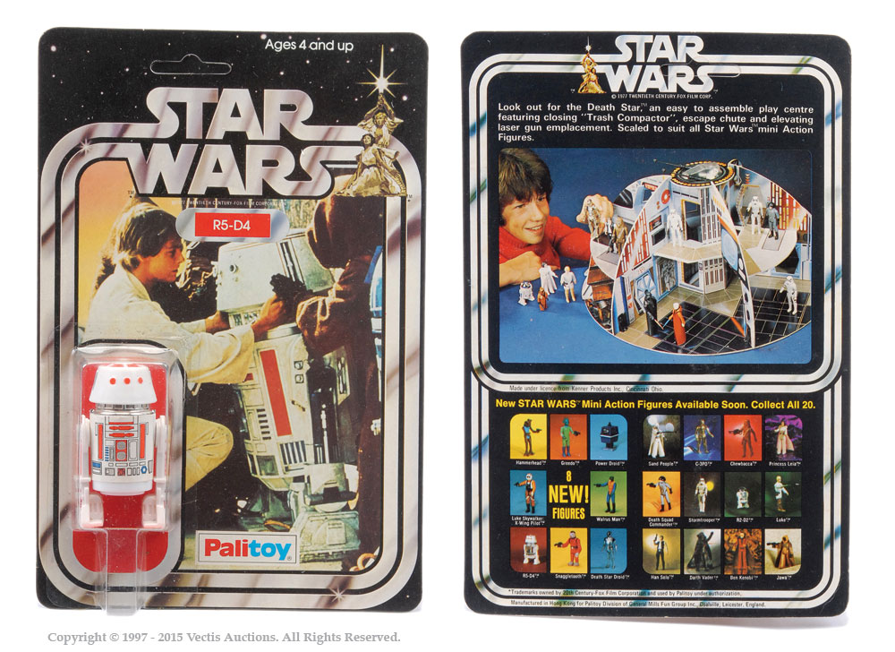 "Palitoy Star Wars R5-D4 3 3/4"" vintage figure, Mint"