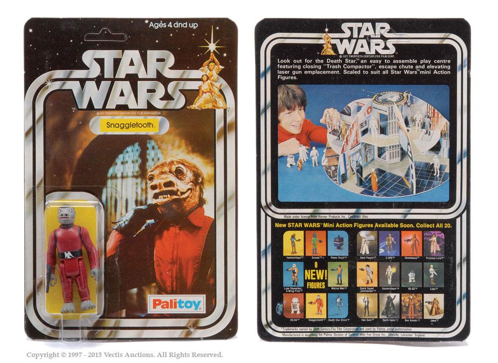 """Palitoy Star Wars Snaggletooth 3 3/4"""" vintage figure, Mint"""