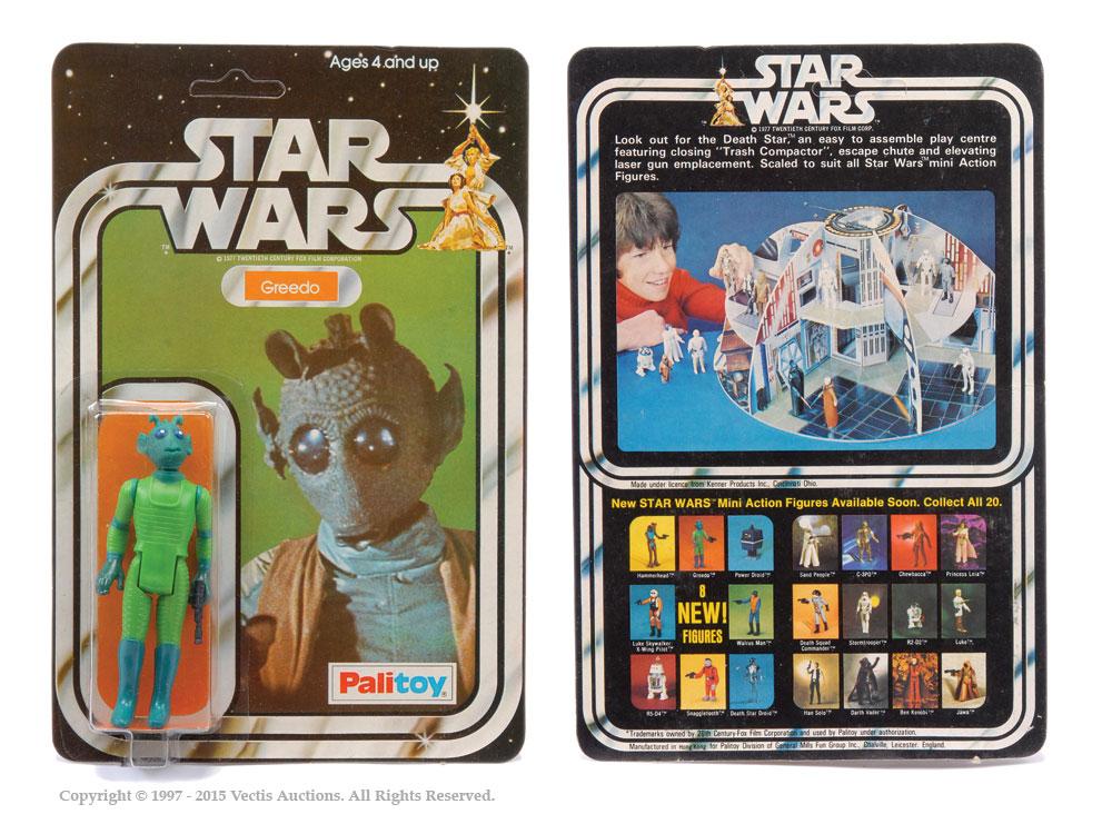 "Palitoy Star Wars Greedo 3 3/4"" vintage figure, Mint"