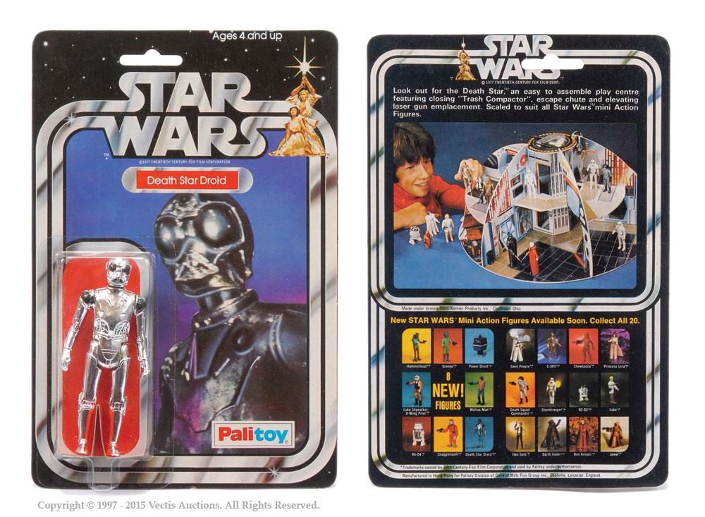 "Palitoy Star Wars Death Star Droid 3 3/4"" vintage figure"