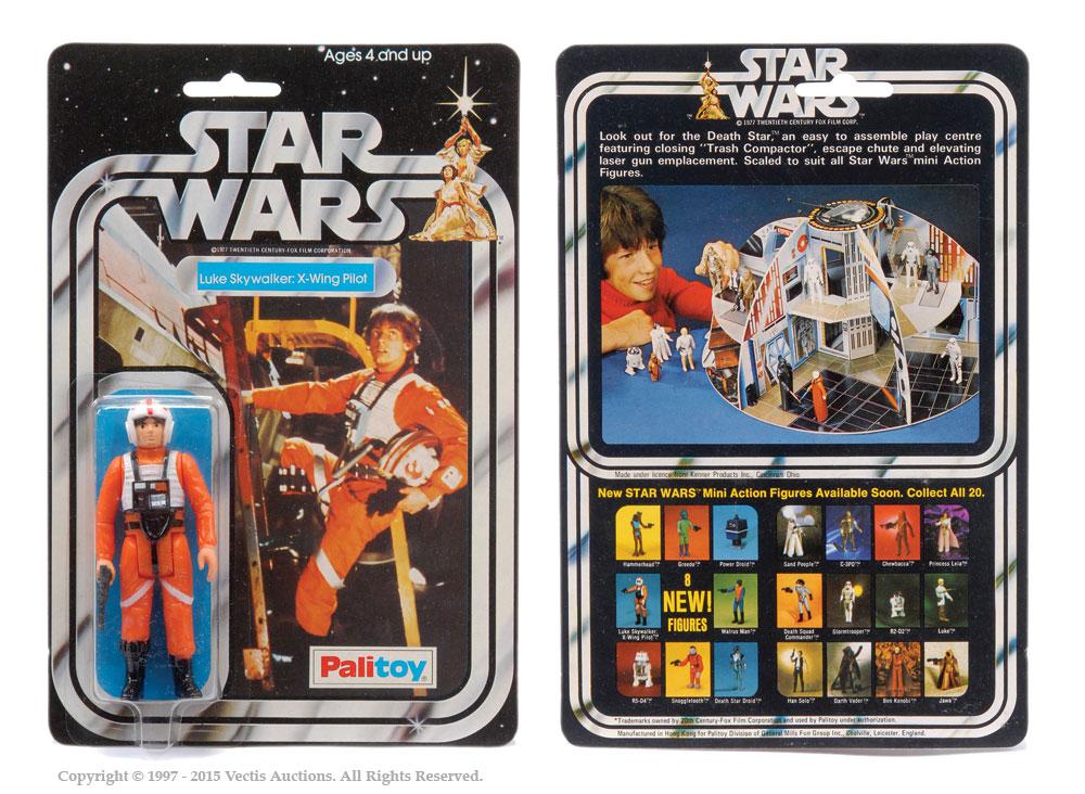 "Palitoy Star Wars Luke Skywalker: X-Wing Pilot 3 3/4"" vintage"