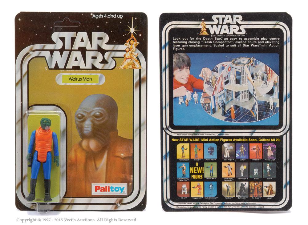 "Palitoy Star Wars Walrus Man 3 3/4"" vintage figure, Mint"