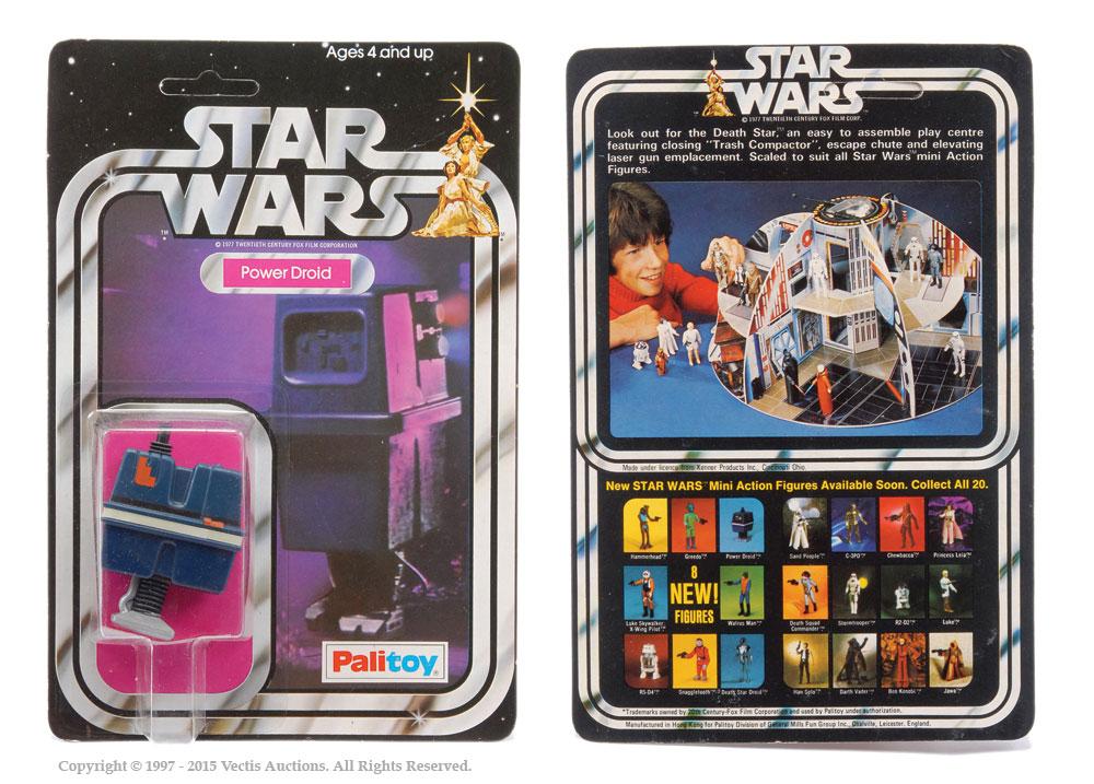 "Palitoy Star Wars Power Droid 3 3/4"" vintage figure, Mint"