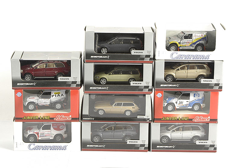 Motorart Premium Line 1/43rd scale models including Volvo 4 x 4, Volvo P1800 and other similar models